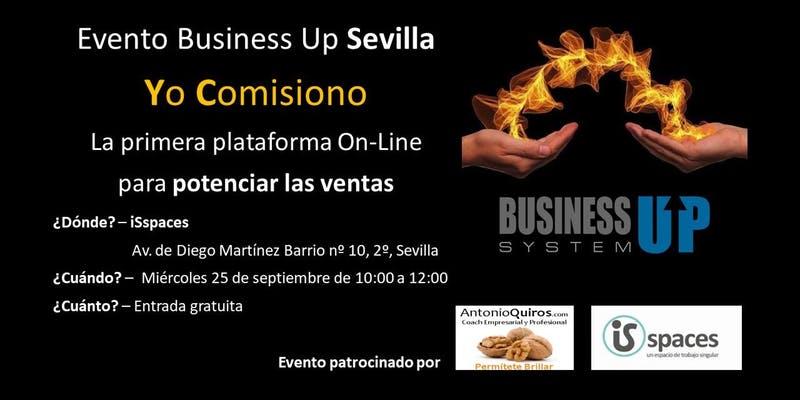"Evento Business Up Sevilla ""Yo comisiono"" www.AntonioQuiros.com"